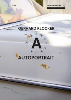 AUTOPORTRAIT Gerhard Klocker von Klocker,  Gerhard
