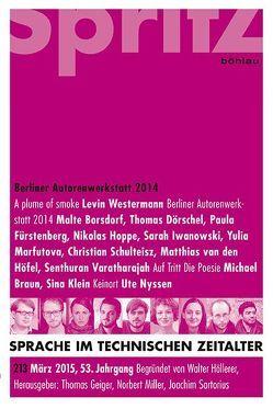 Autorenwerkstatt Prosa 2014 von Geiger,  Thomas, Miller,  Norbert, Sartorius,  Joachim