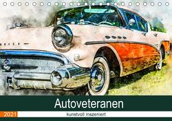 Autoveteranen – kunstvoll inszeniert (Tischkalender 2021 DIN A5 quer) von und André Teßen,  Sonja