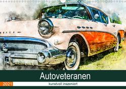 Autoveteranen – kunstvoll inszeniert (Wandkalender 2021 DIN A3 quer) von und André Teßen,  Sonja