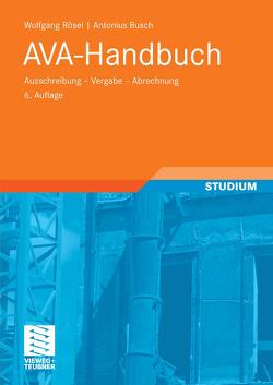AVA-Handbuch von Busch,  Antonius, Rösel,  Wolfgang