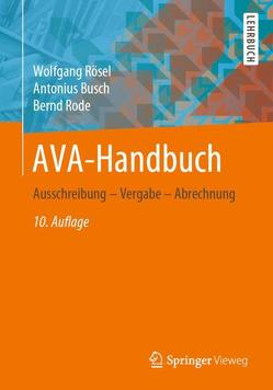 AVA-Handbuch von Busch,  Antonius, Rode,  Bernd, Rösel,  Wolfgang
