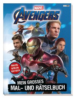Marvel Avengers: Mein großes Mal- und Rätselbuch von Cohen,  Elana, Juhlin,  Emeli, Kurth,  Steve