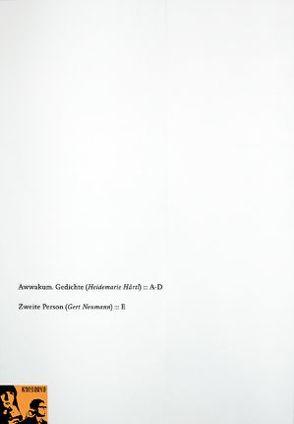Awwakum. Gedichte | Zweite Person von Härtl,  Heidemarie, Neumann,  Gert