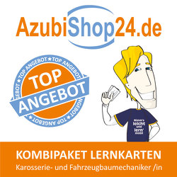 AzubiShop24.de Kombi-Paket Lernkarten Karosserie- und Fahrzeugbaumechaniker /in von Keßler,  Zoe, Rung-Kraus,  Michaela