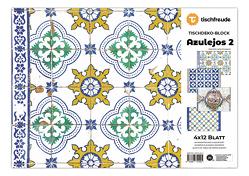 AZULEJOS 2, Tischdeko-Block, 4 x 12 Blatt von Jahn-Draskóczy,  Petra
