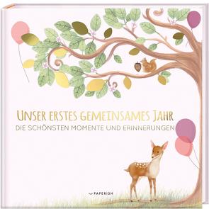 Babyalbum – UNSER ERSTES GEMEINSAMES JAHR (rosé) von Loewe,  Pia