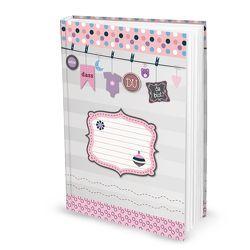 Babybuch für Mädchen (Hardcover, A4, Blankoseiten)