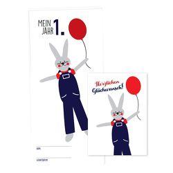 """Babykalender """"Mein erstes Jahr"""" für Jungen, inkl. passender Glückwunschkarte von Garschhammer,  Anja"""