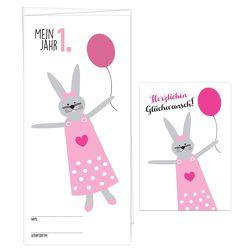 """Babykalender """"Mein erstes Jahr"""" für Mädchen, inkl. passender Glückwunschkarte von Garschhammer,  Anja"""