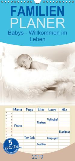 Babys – Willkommen im Leben – Familienplaner hoch (Wandkalender 2019 , 21 cm x 45 cm, hoch) von SchnelleWelten