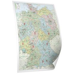 BACHER ORGA-Karte Deutschland, Maßstab 1:700 000, Papierkarte gerollt