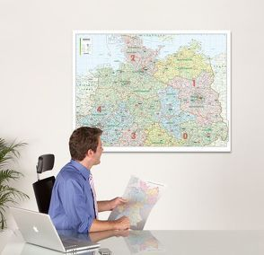 BACHER ORGA-Karte Norddeutschland, Maßstab 1:500 000, Papierkarte gerollt