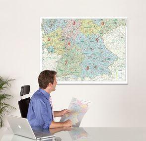 BACHER ORGA-Karte Süddeutschland Maßstab 1:500 000, Papierkarte gerollt, folienbeschichtet