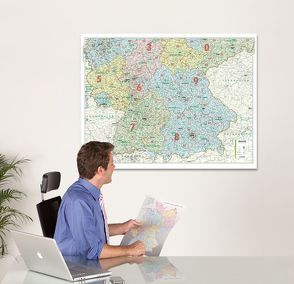 BACHER ORGA-Karte Süddeutschland Maßstab 1:500 000, Papierkarte gerollt