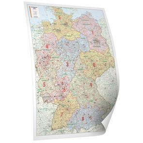 BACHER Postleitzahlenkarte Deutschland, Edition Neoballs, 1:700 000, beschichtet und beleistet