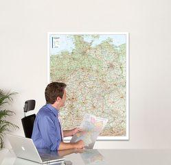 BACHER Straßenkarte Deutschland, Maßstab 1:700 000, Papierkarte gerollt