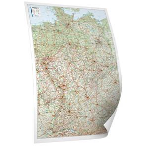 BACHER Straßenkarte Deutschland, Edition Neoballs, 1:700 000, beschichtet und beleistet