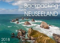 Backpacking durch Neuseeland (Wandkalender 2018 DIN A2 quer) von Gschmeißner,  Steven, van der Wiel,  Irma