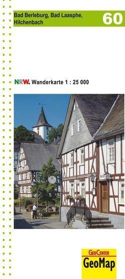 Bad Berleburg, Bad Laasphe, Hilchenbach Blatt 60, topographische Wanderkarte NRW
