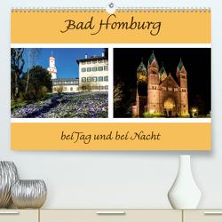 Bad Homburg bei Tag und bei Nacht (Premium, hochwertiger DIN A2 Wandkalender 2020, Kunstdruck in Hochglanz) von Beuck,  Angelika