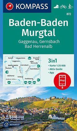 Baden-Baden, Murgtal, Gaggenau, Gernsbach, Bad Herrenalb von KOMPASS-Karten GmbH