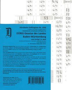 BADEN-WÜRTTEMBERG / Dürig / Dürckheim-Griffregister Nr. 2030 (2018/132. EL) von Dürckheim,  Constantin von, Herrmann,  Alexander, Zimmer,  Tim-Niklas