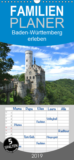 Baden-Württemberg erleben – Familienplaner hoch (Wandkalender 2019 , 21 cm x 45 cm, hoch) von Stoll,  Sascha
