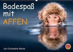 Badespaß mit Affen (Wandkalender 2018 DIN A2 quer) von Christopher Becke,  Jan
