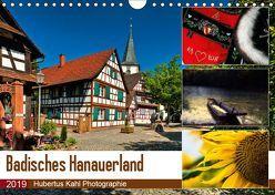 Badisches Hanauerland (Wandkalender 2019 DIN A4 quer) von Kahl,  Hubertus