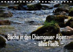 Bäche in den Chiemgauer Alpen – alles fließt (Tischkalender 2019 DIN A5 quer) von Stehlmann,  Ute