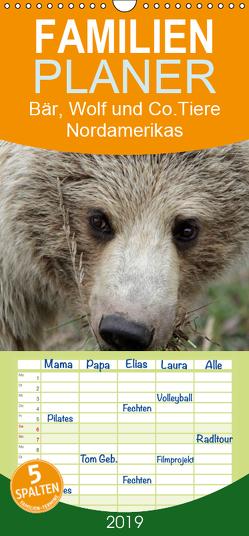 Bär, Wolf und Co – Tiere Nordamerikas – Familienplaner hoch (Wandkalender 2019 , 21 cm x 45 cm, hoch) von Salzmann,  Ursula