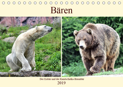 Bären – Der Eisbär und der Kamtschatka-Braunbär (Tischkalender 2019 DIN A5 quer) von Klatt,  Arno