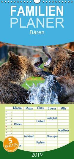 Bären – Familienplaner hoch (Wandkalender 2019 , 21 cm x 45 cm, hoch) von Stanzer,  Elisabeth