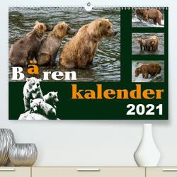 Bärenkalender (Premium, hochwertiger DIN A2 Wandkalender 2021, Kunstdruck in Hochglanz) von Steinwald,  Max