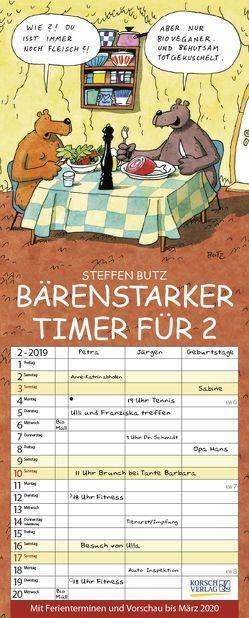 Bärenstarker Timer für 2 2019 von Butz,  Steffen, Korsch Verlag