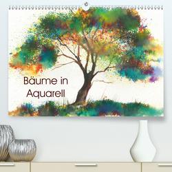 Bäume in Aquarell (Premium, hochwertiger DIN A2 Wandkalender 2020, Kunstdruck in Hochglanz) von Krause,  Jitka