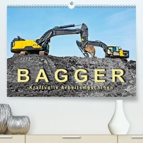 Bagger – kraftvolle Arbeitsmaschinen (Premium, hochwertiger DIN A2 Wandkalender 2021, Kunstdruck in Hochglanz) von Roder,  Peter