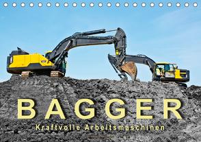 Bagger – kraftvolle Arbeitsmaschinen (Tischkalender 2021 DIN A5 quer) von Roder,  Peter
