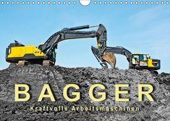 Bagger – kraftvolle Arbeitsmaschinen (Wandkalender 2019 DIN A4 quer) von Roder,  Peter