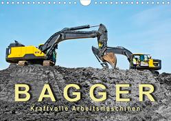 Bagger – kraftvolle Arbeitsmaschinen (Wandkalender 2021 DIN A4 quer) von Roder,  Peter