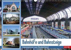 Bahnhöfe und Bahnsteige 2018. Impressionen aus Deutschland (Wandkalender 2018 DIN A3 quer) von Lehmann,  Steffani