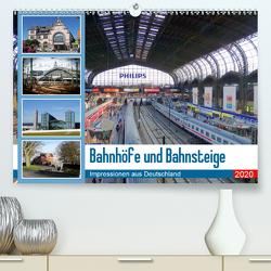 Bahnhöfe und Bahnsteige 2020. Impressionen aus Deutschland (Premium, hochwertiger DIN A2 Wandkalender 2020, Kunstdruck in Hochglanz) von Lehmann,  Steffani