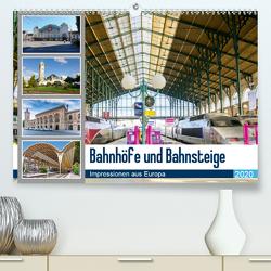 Bahnhöfe und Bahnsteige 2020. Impressionen aus Europa(Premium, hochwertiger DIN A2 Wandkalender 2020, Kunstdruck in Hochglanz) von Lehmann (Hrsg.),  Steffani