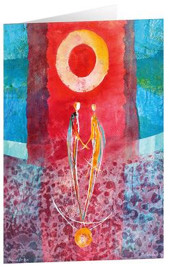 Balance für zwei – Kunst-Faltkarten ohne Text (5 Stück) von - Habedank,  Jörgen