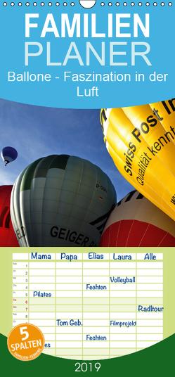 Ballone – Faszination in der Luft – Familienplaner hoch (Wandkalender 2019 , 21 cm x 45 cm, hoch) von Düll,  Sigrun