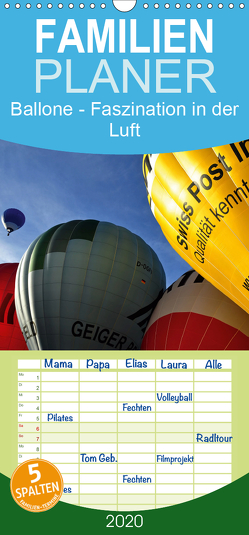 Ballone – Faszination in der Luft – Familienplaner hoch (Wandkalender 2020 , 21 cm x 45 cm, hoch) von Düll,  Sigrun