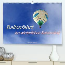 Ballonfahrt im winterlichen Kaiserwinkl (Premium, hochwertiger DIN A2 Wandkalender 2021, Kunstdruck in Hochglanz) von Haafke,  Udo