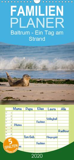 Baltrum – Ein Tag am Strand – Familienplaner hoch (Wandkalender 2020 , 21 cm x 45 cm, hoch) von Heizmann bildkunschd,  Thomas