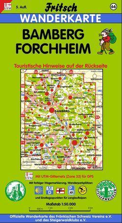 Bamberg – Forchheim von Fritsch Landkartenverlag